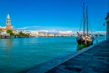 Venezia Deserta, il Bacino di San Marco durante il lockdown del Coronavirus Covid-19 a Venezia