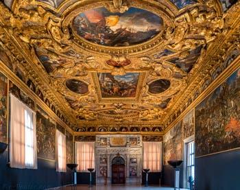 La Salle du Scrutin ou Scrutinio du Palais des Doges de Venise.
