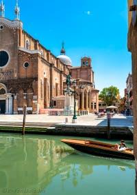 Le Campo et la Basilique dei Santi Giovanni e Paolo dans le Sestier du Castello à Venise.