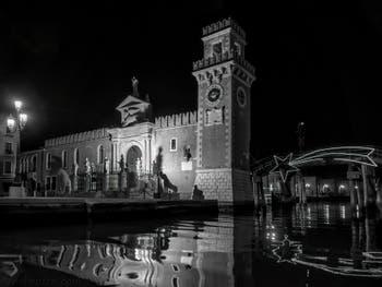 L'Arsenal de Venise à Noël dans le Castello à Venise.