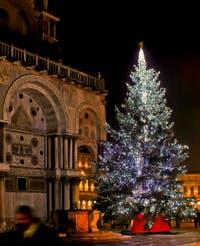 Le Sapin de Noël de la place Saint-Marc à Venise.
