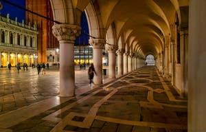 Les arches du Palais des Doges et la Piazzetta San Marco.