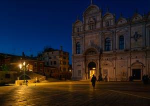 Le Campo San Giovanni e Paolo, le pont del Cavallo et la Scuola Grande San Marco dans le Sestier du Castello à Venise.