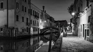 Le Rio, le pont et la Fondamenta Santa Caterina dans le Cannaregio à Venise.