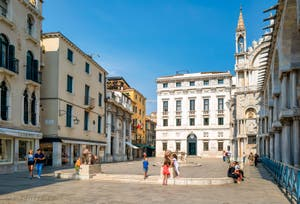 Les lions de la Piazzetta dei Leoni, dans le Sestier de Saint-Marc à Venise