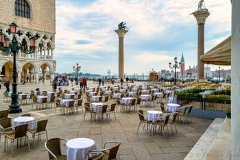 La Piazzetta San Marco et le Palais des Doges à Venise.