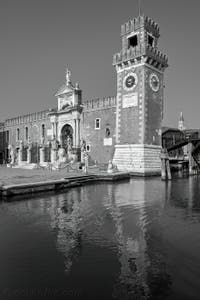 L'Arsenal de Venise et ses lions, dans le Sestier du Castello à Venise.