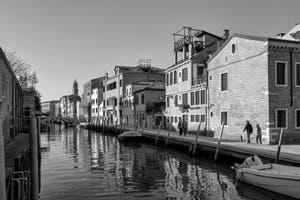 La Fondamenta Bonlini et le Rio dei Ognissanti dans le Dorsoduro à Venise.