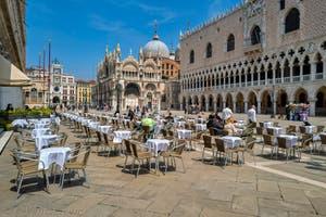 La Piazzetta San Marco, le Palais des Doges et la Basilique Saint-Marc à Venise.