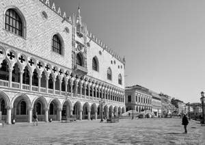 Le Palais des Doges de Venise et le pont de la Paglia.