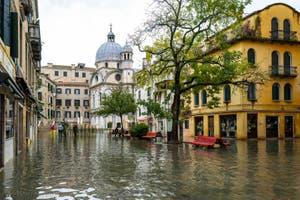 Acqua Alta de Novembre 2019 à Venise, les marées hautes de novembre à Venise.