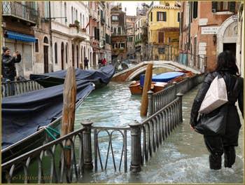 Acqua Alta du 1er Décembre 2008, Fondamenta de l'Osmarin à Venise