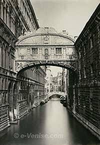 Le Pont des Soupirs à Venise (photo 1890)