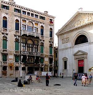 Le Palazzo Bellavite où habitait Baffo au 2760 du Campo San Maurizio à San Marco à Venise