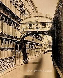 Le Pont des Soupirs à Venise en 1870 par Nay Carlo