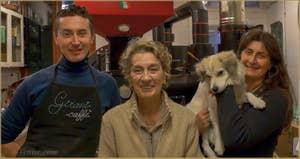 Roberta, Emmanuel et Gigliola, Café Girani - Castello
