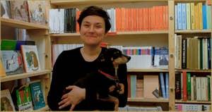 Sabine, Librairie Marco Polo, dans le Sestier du Cannaregio à Venise.