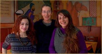 Meryem, Federica et Federica du restaurant Frary's à San Polo