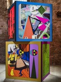 Ad Minoliti, Cubes, Biennale d'Art de Venise 2019