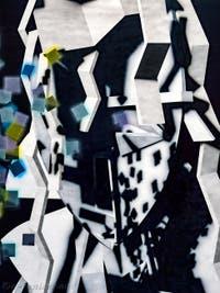 Avery Singer, Untitled (Monday), détail, à la Biennale d'Art de Venise