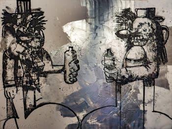 George Condo, Double Elvis, à la Biennale d'Art de Venise