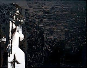 George Condo, Standing Female Figure in Black Space, à la Biennale d'Art de Venise
