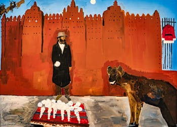 Henry Taylor, Hammons meets a Hyena on Holiday, Biennale d'Art de Venise