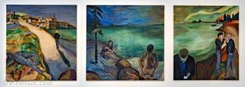 Jill Mulleady, Erupted Citadel, Point Lobos, This Connection is not Private, à la Biennale d'Art de Venise
