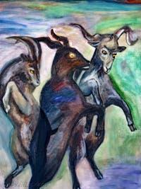 Jill Mulleady, Exterior with Goats, à la Biennale d'Art de Venise