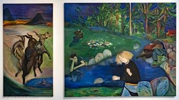Jill Mulleady, Exterior with Goats et The Man in the Woods, à la Biennale d'Art de Venise