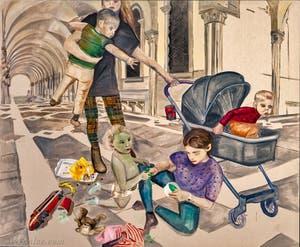 Jill Mulleady, Kids with Slime, à la Biennale d'Art de Venise