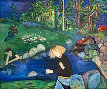 Jill Mulleady, The Man in the Woods, à la Biennale d'Art de Venise