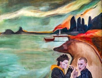 Jill Mulleady, This Connection is not Private, à la Biennale d'Art de Venise