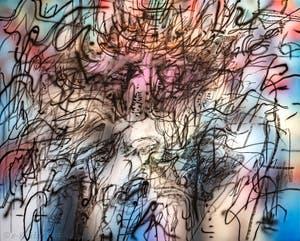 Julie Mehretu, Flo Me La, à la Biennale d'Art de Venise