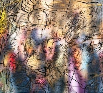Julie Mehretu, Sing, Unburied, Sing, à la Biennale d'Art de Venise