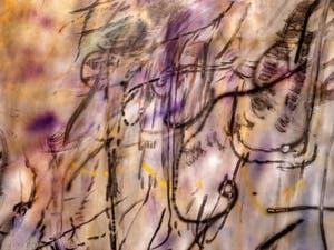 Julie Mehretu, When Angels Speak of Love, détail, à la Biennale d'Art de Venise