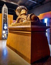 Le sanctuaire de Khnoum Sphinx-parabole et l'obélisque au Pavillon égyptien de la Biennale d'Art de Venise 2019
