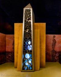 L'obélisque du Sanctuaire au Pavillon égyptien de la Biennale d'Art de Venise 2019