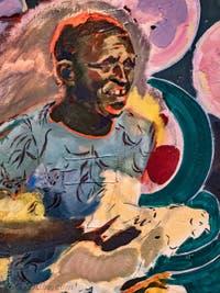 Michael Armitage, The Chicken Thief, à la Biennale d'Art de Venise