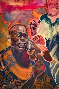 Michael Armitage, The Dumb Oracle, à la Biennale d'Art de Venise