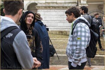Les élèves, partenaires et personnels du lycée de Briançon