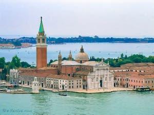 L'église et le Campanile de San Giorgio Maggiore à Venise