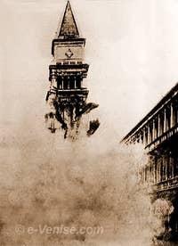 L'écroulement du Campanile de Saint-Marc en 1902
