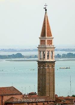 Le Campanile de San Francesco della Vigna et la lagune de Venise
