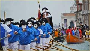 Le Carnaval en bateau des Vénitiens