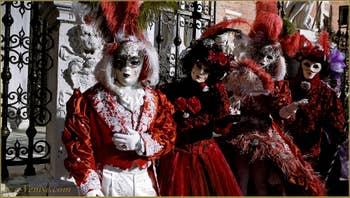 Carnaval de Venise : les masques et costumés à l'Arsenal de Venise.