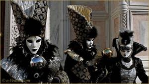Carnaval de Venise : Plumes et Marquis du Carnaval.