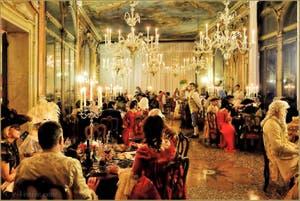 Carnaval de Venise Grand Bal Costumé Ballo Tiepolo Dîner Palazzo Pisani Moretta