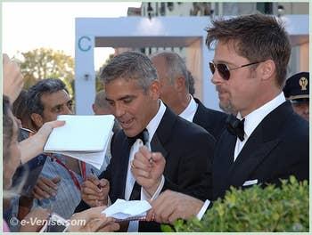 Georges Clooney et Brad Pitt à la 65 Mostra du film de Venise biennale du Cinéma 2008