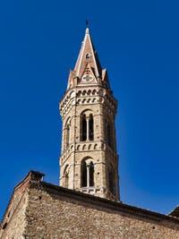 Campanile et Cloitre des Orangers de la Badia Fiorentina à Florence en Italie